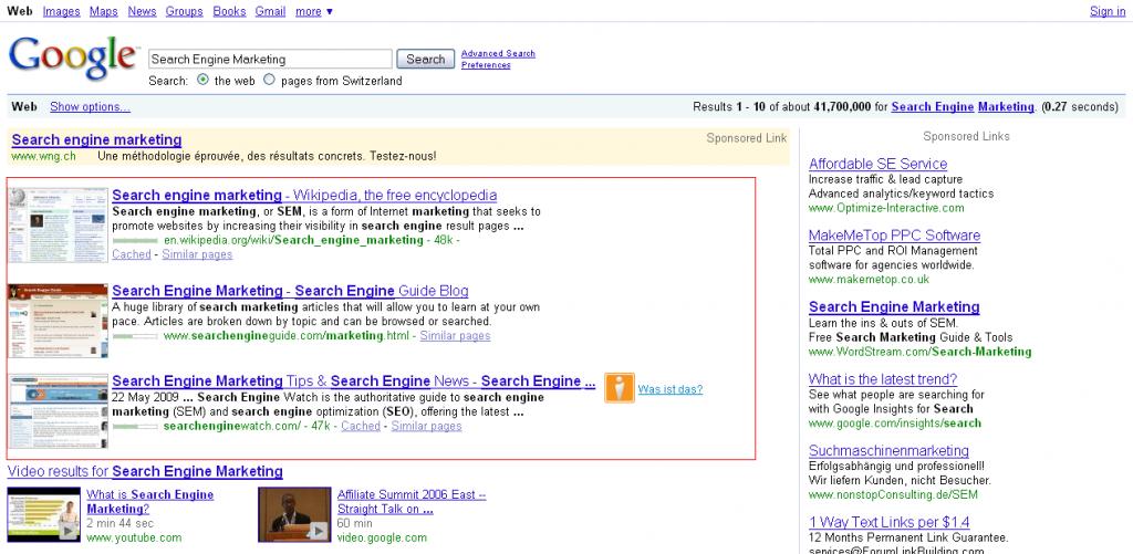 Search Engine Marketing - Organic Search